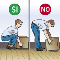 Cómo debemos agacharnos y cómo no es recomendable hacerlo