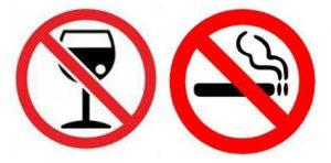 Hay que dejar de fumar y beber alcohol para curar la úlcera